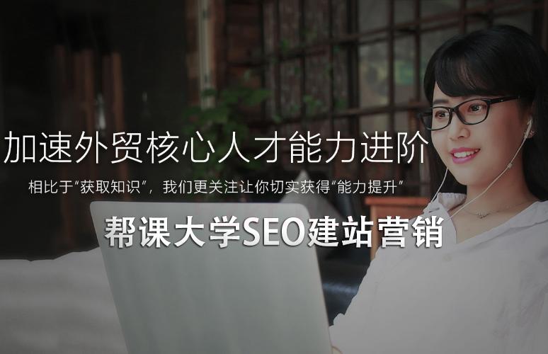 帮课大学seo建站营销教程