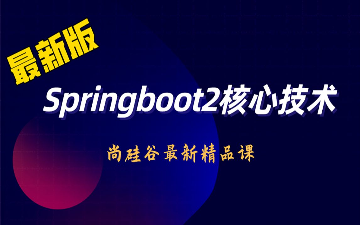 2021版SpringBoot2零基础入门springboot全套完整版